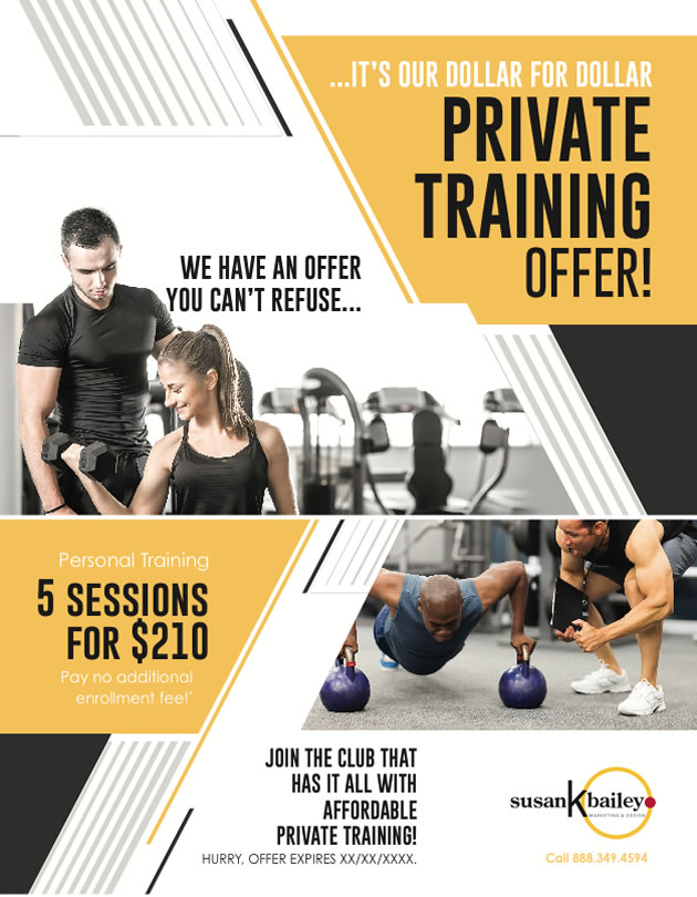 Flyers, Personal Training