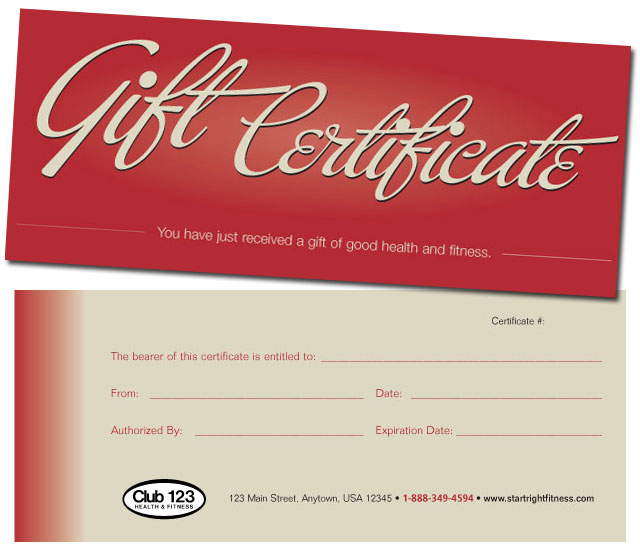 pictures of gift certificates